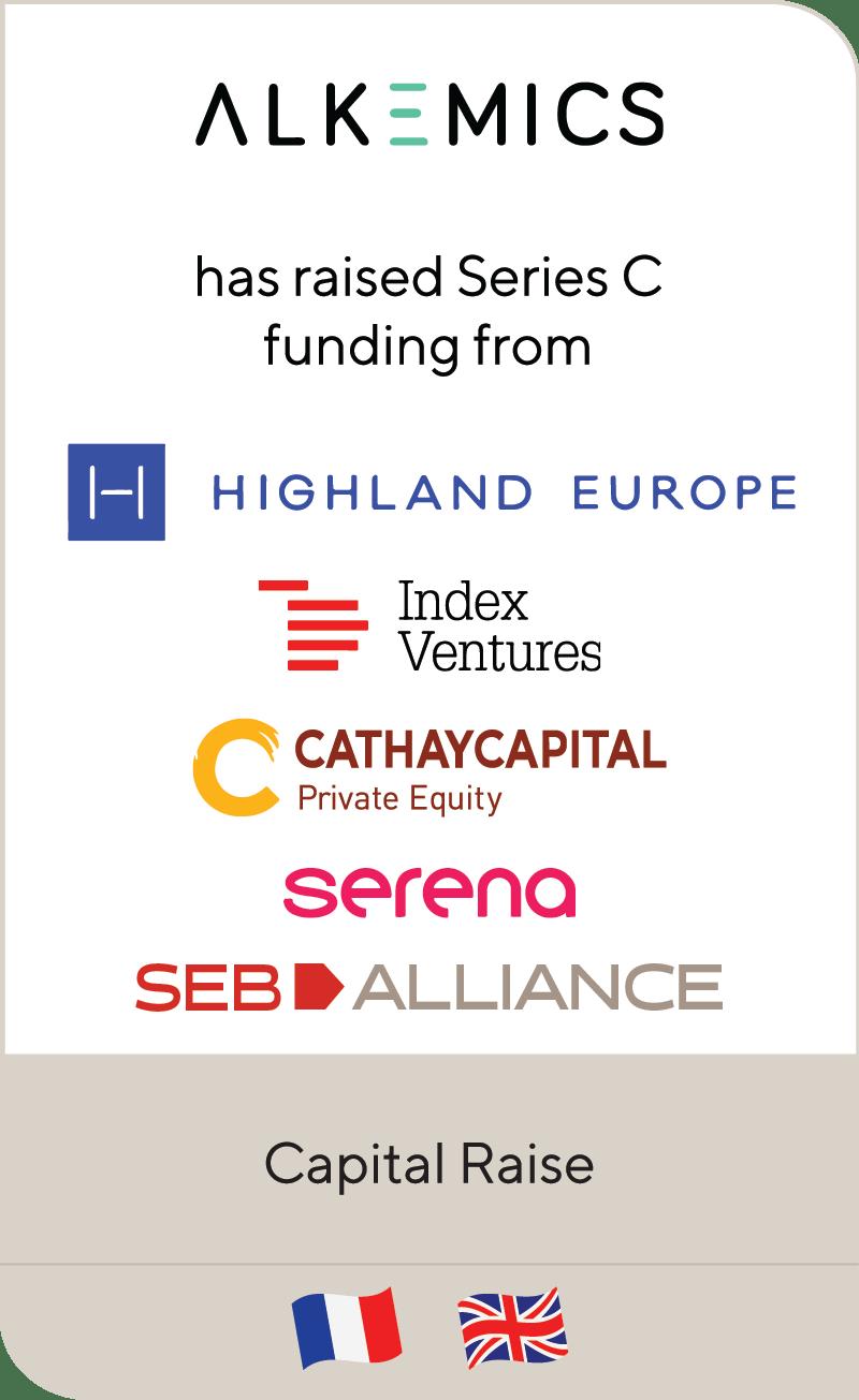 Alkemics Highland Europre Index Ventures Cathay Captial Serena Seb Alliance 2020