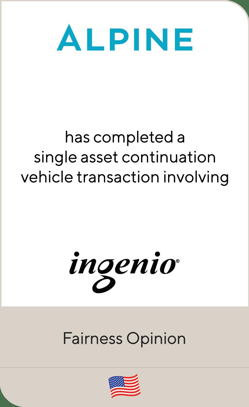 Alpine Investors IV Ingenio LLC