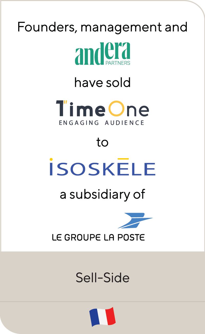 Andera Partners TimeOne Isoskele Le Group La Poste 2021