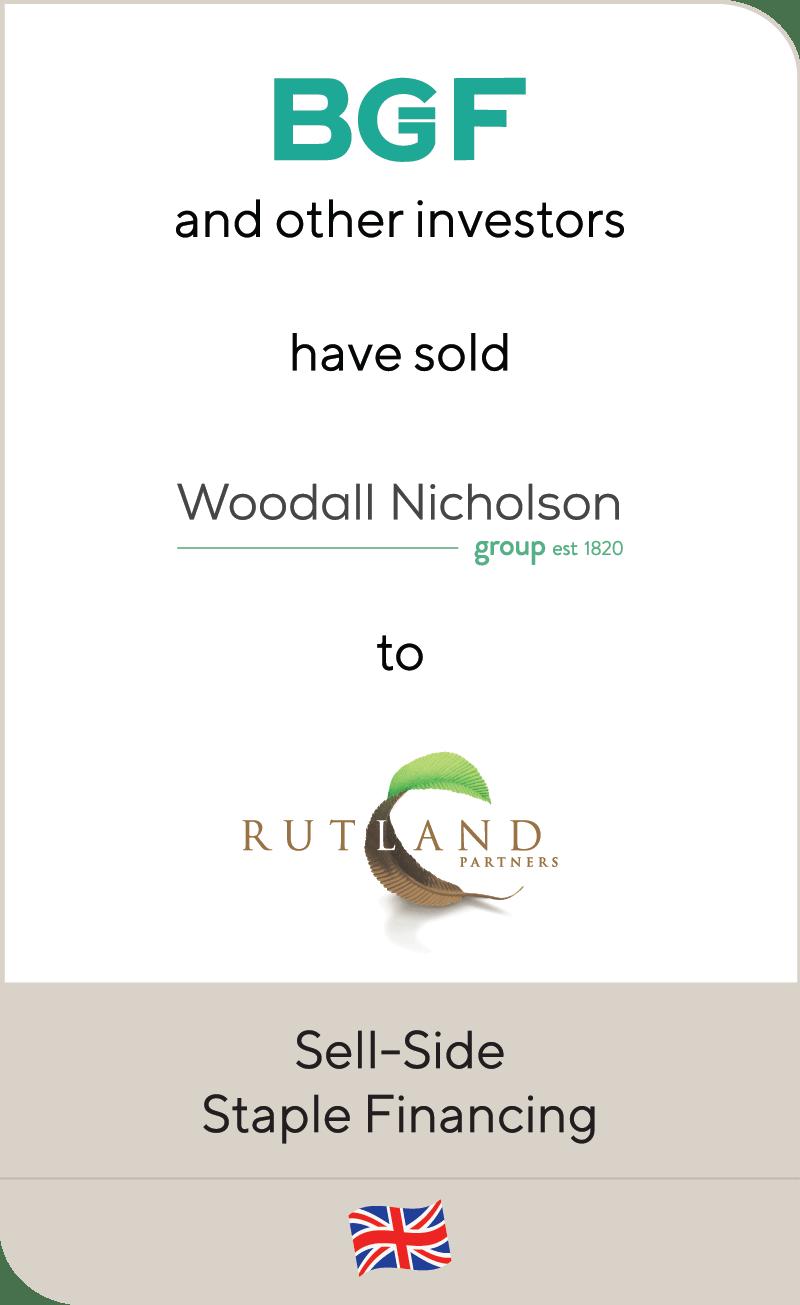 BGF Woodall Nicholson Holdings Rutland Partners 2020