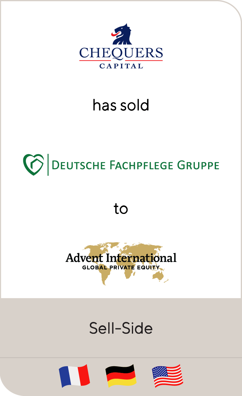 Chequers Capital has sold Deutsche Fachpflege Gruppe to Advent International