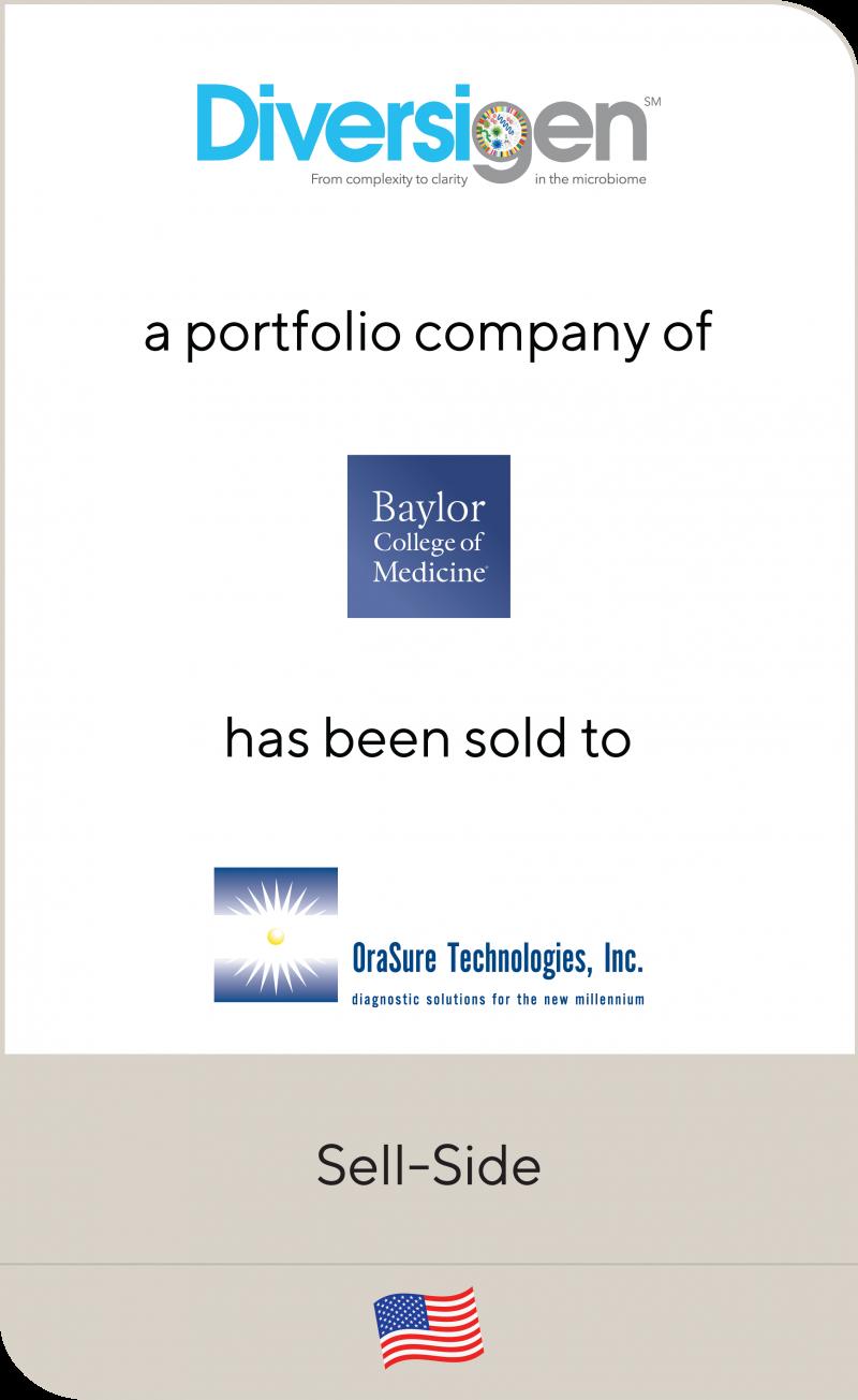 Diversigen Baylor College Of Medicine Orasure Technologies 2019