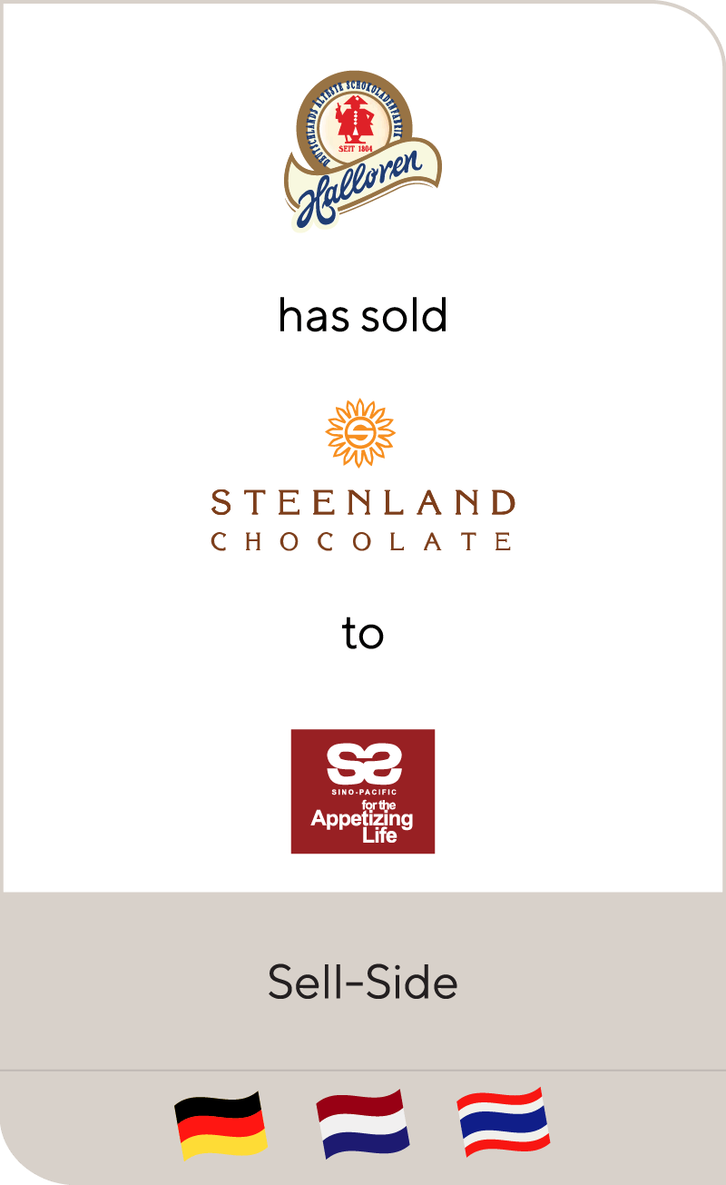 Halloren has sold Steenland Chocolate to Sino-Pacific