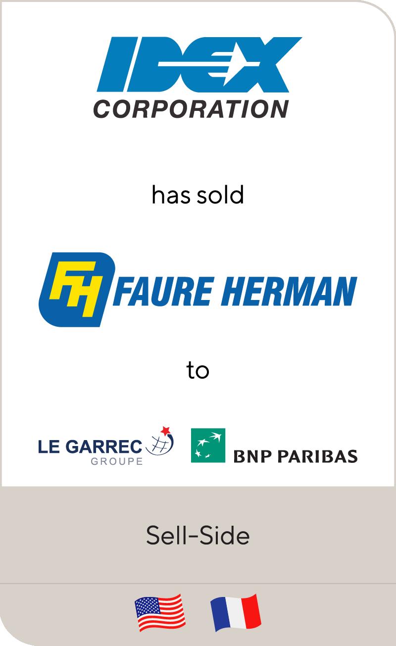 Faure Herman has been sold to Le Garrec & Co. and BNP Paribas Development