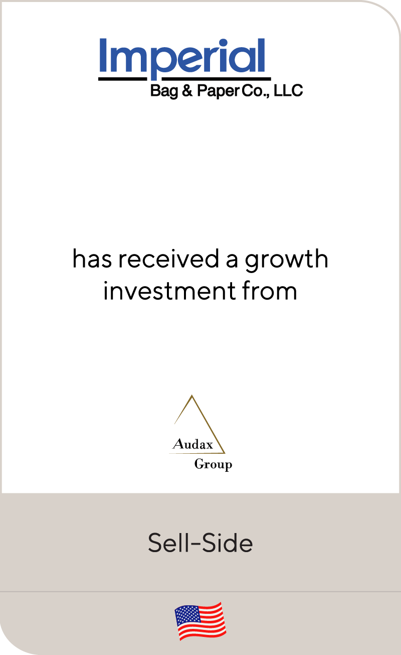 Imperial Bag has recieved a growth investment from Audax