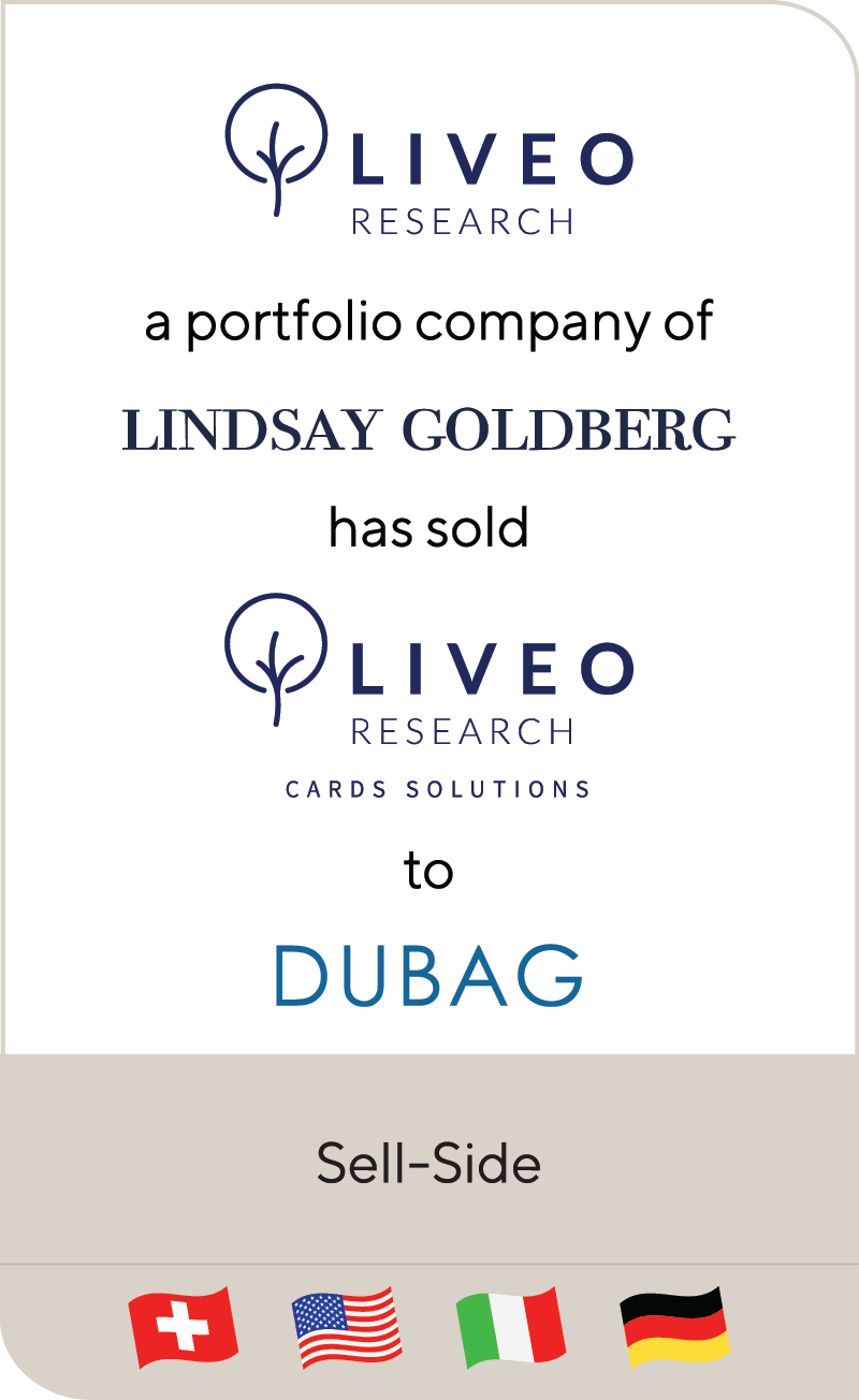 Liveo Research AG Lindsay Goldberg Liveo Research Cards Solutions DUBAG 2021