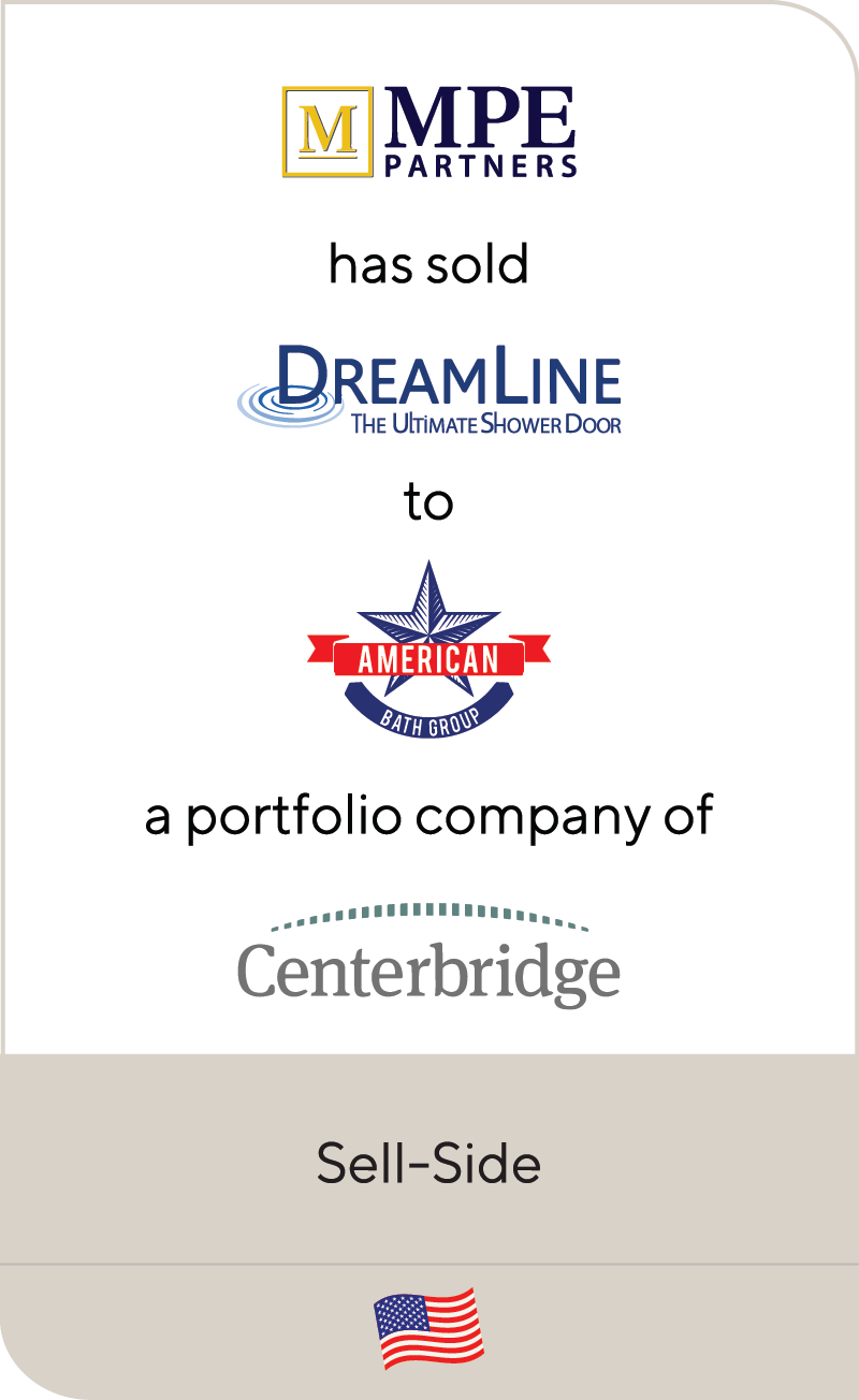 MPEPartners Dreamline AmericanBathGroup Centerbridge 2020