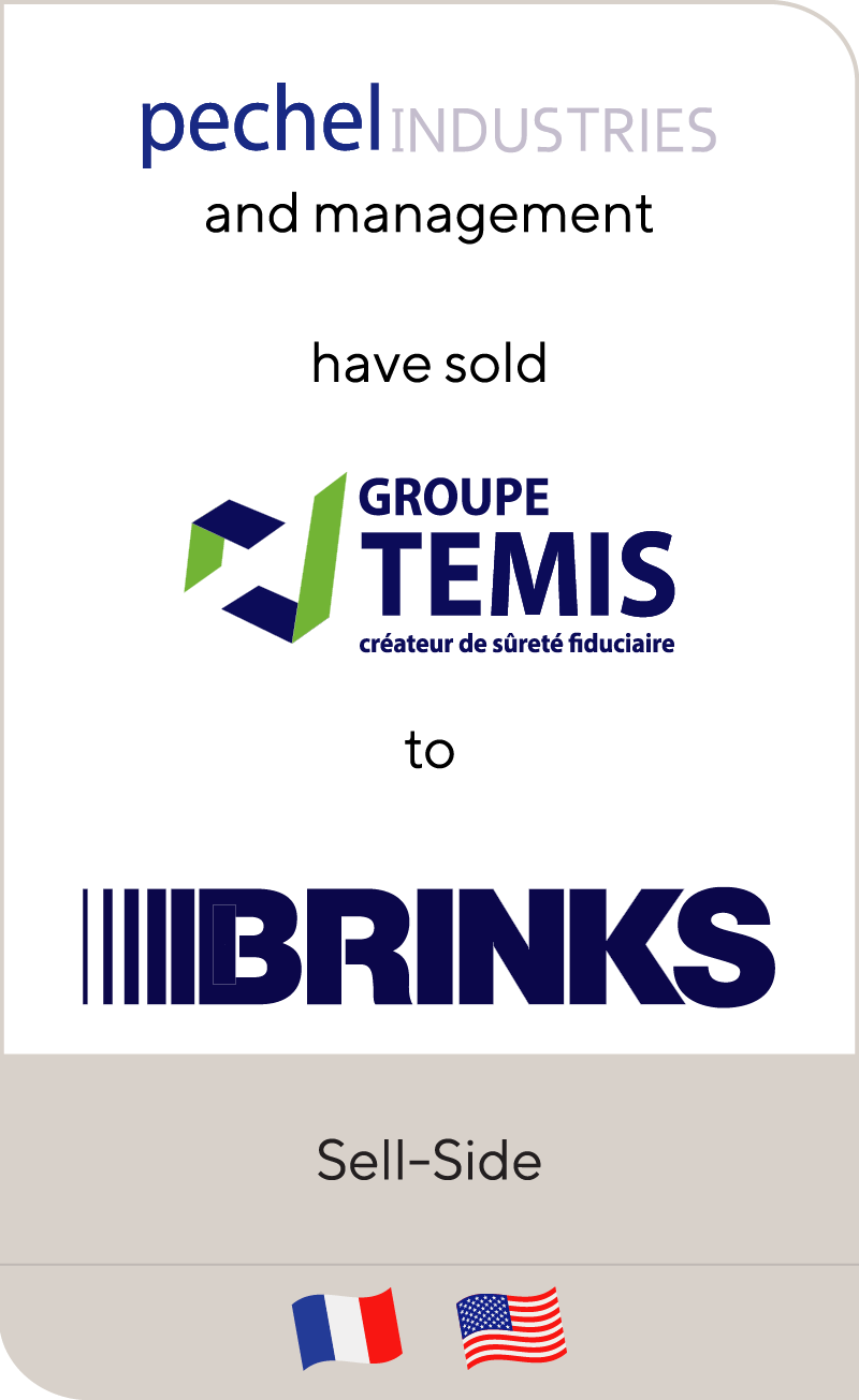 Pechel Industries Groupe has sold Temis to Brinks