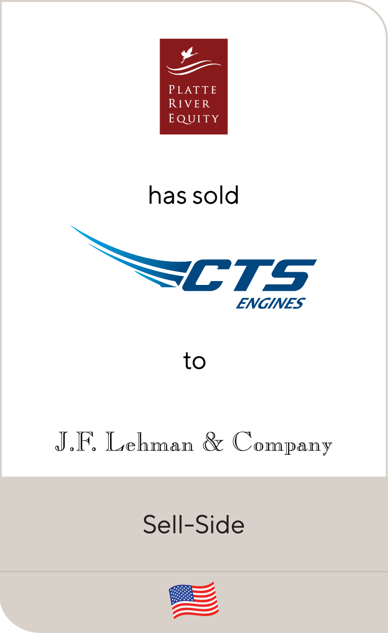 Platte River Equity CTS Engines JF Lehman & Co 2020