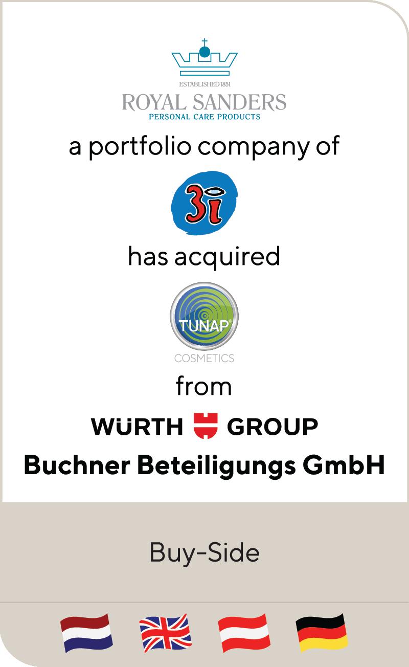 Royal Sanders 3i Tunap Cosmetics Wurth Group Buchner Beteiligung 2021