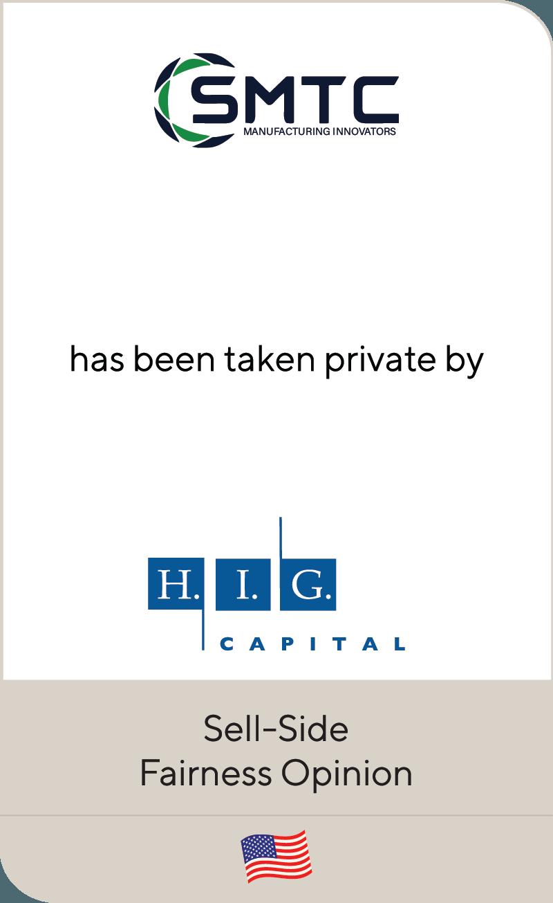 SMTC Manufacturing HIG Capital 2021