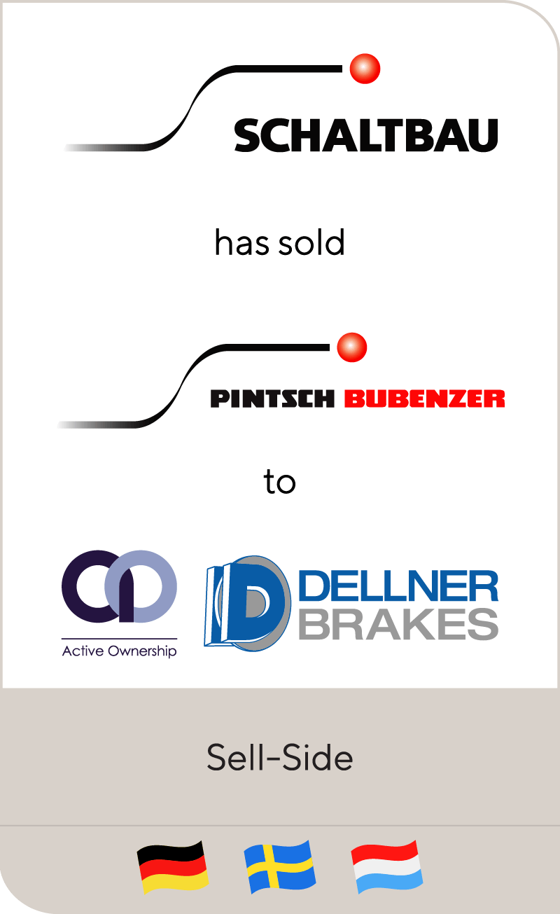 Schaltbau Holding has sold Pintsch Bubenzer to Dellner Brakes and Active Ownership Capital