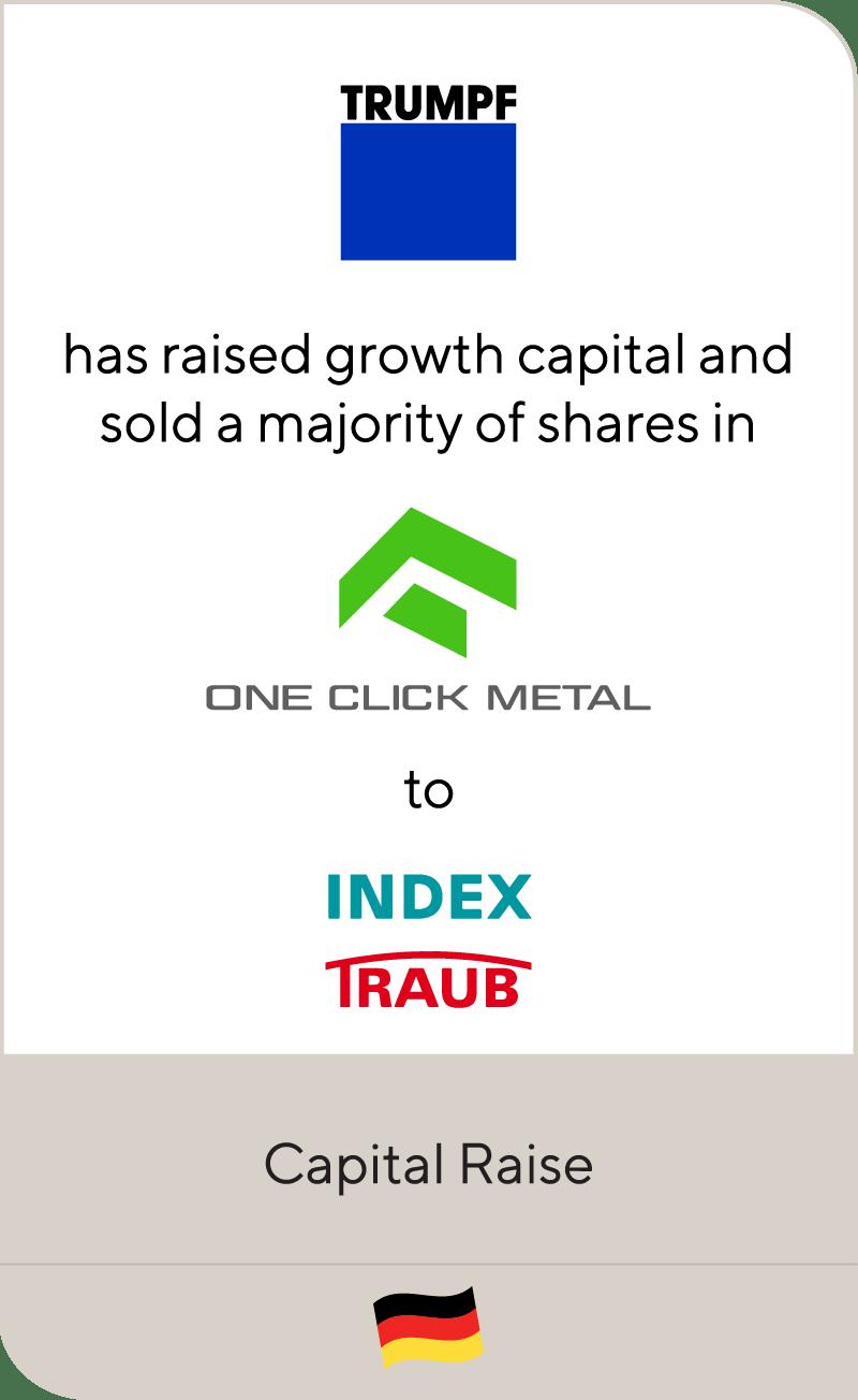 TRUMPF One Click Metal Index Werke 2021