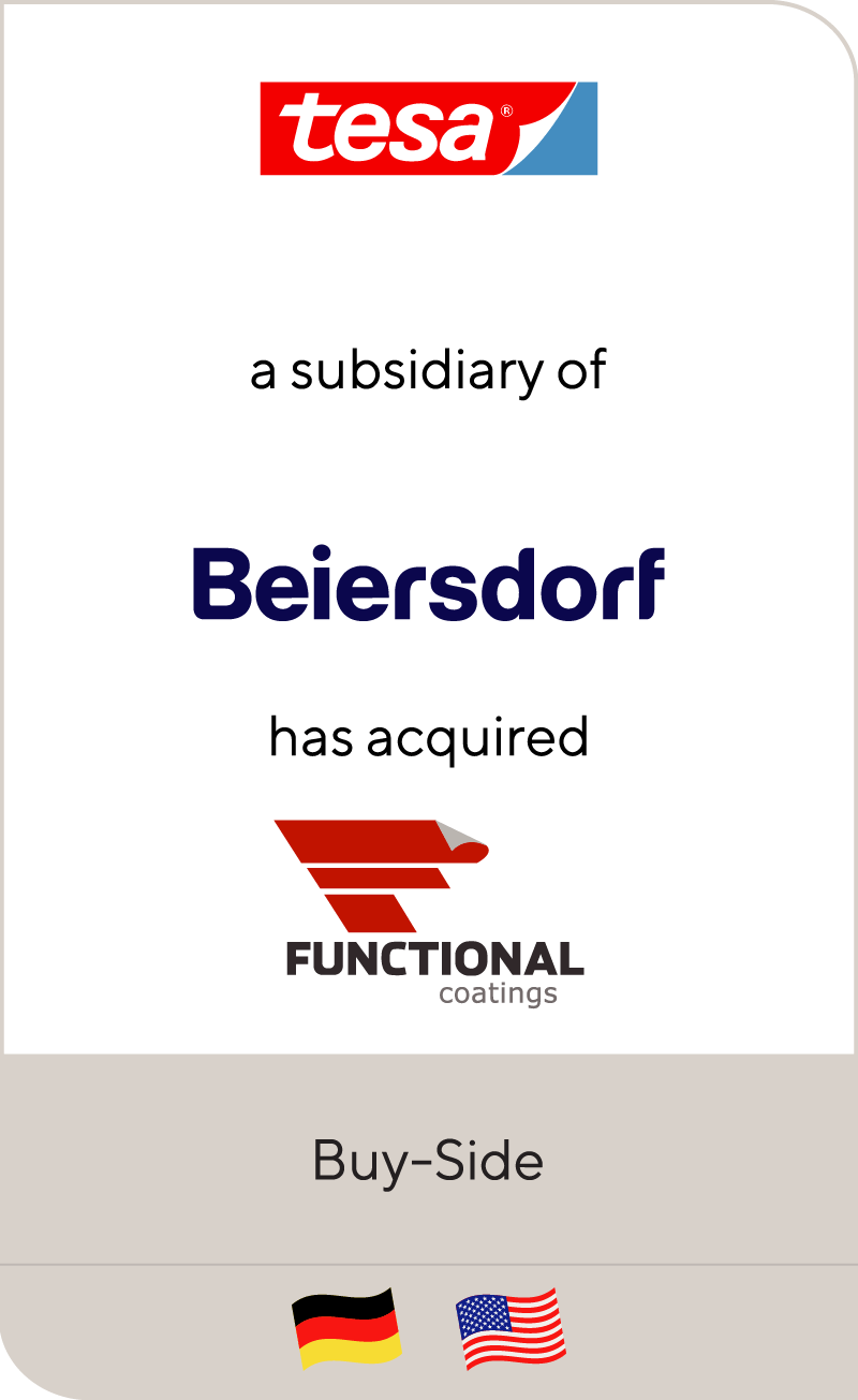 Tesa, a subsidiary of Beiersdorf, has acquired Functional Coatings