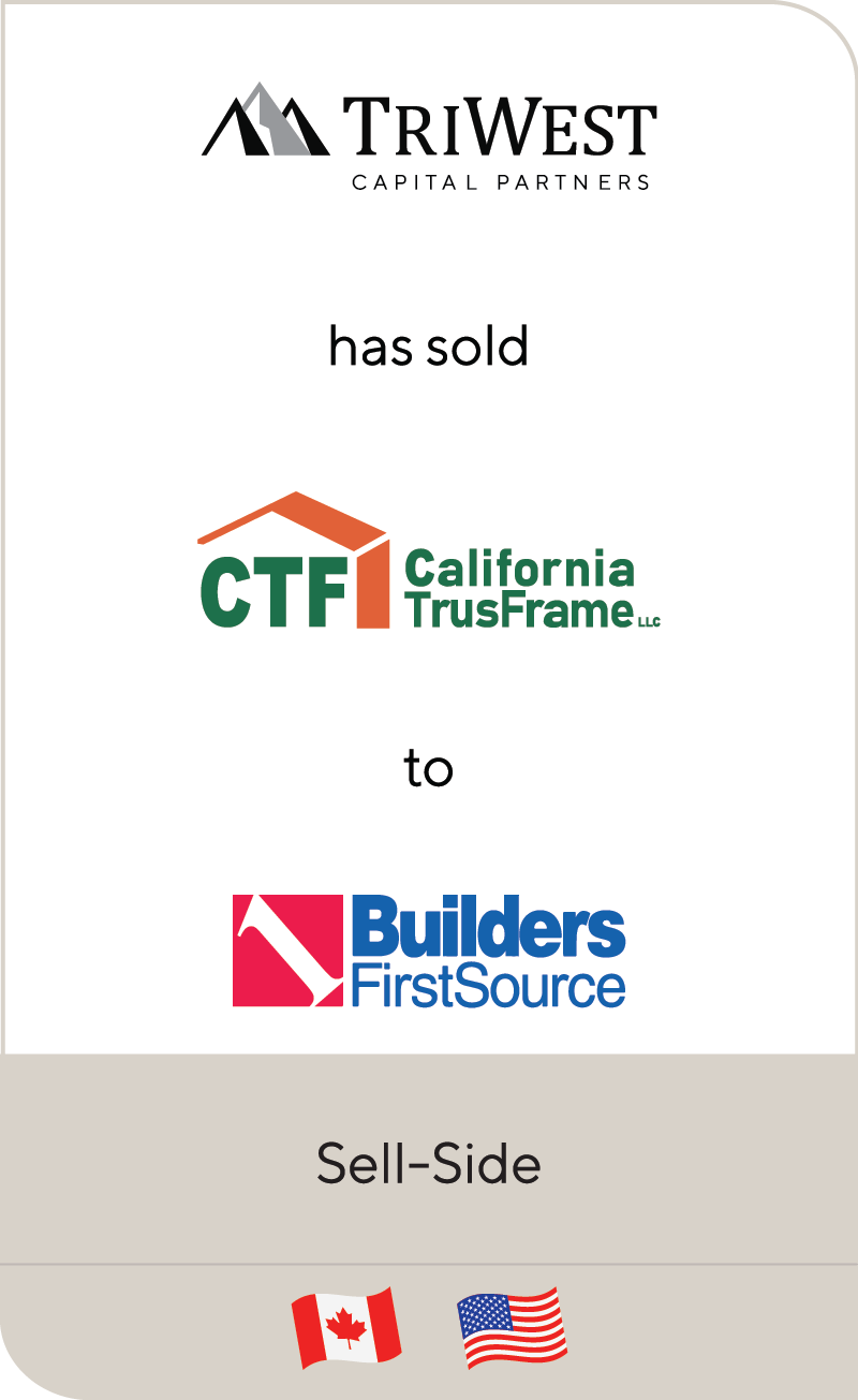 TriWest CTF California TrusFrame Builders FirstSource 2021