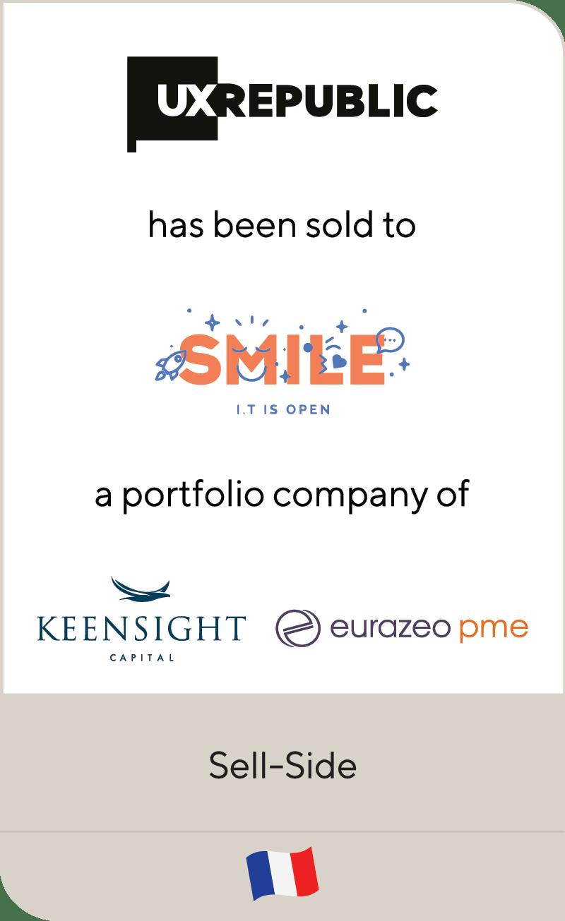 UX Republic Smile Keensight Capital Eurazeo PME 2021
